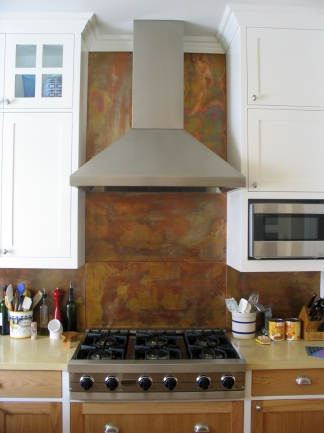 Copper back splash (flamed) - Mar Vista