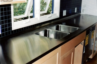 SS countertop with integral sink - Beverly Hills