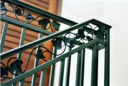 Steel railing with copper leaves (2) - Malibu