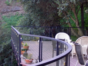 Steel railing with glass panels (2) - Beverly Glenn